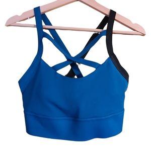 Reebok Speedwick blue Sports Bra Turquoise Cross